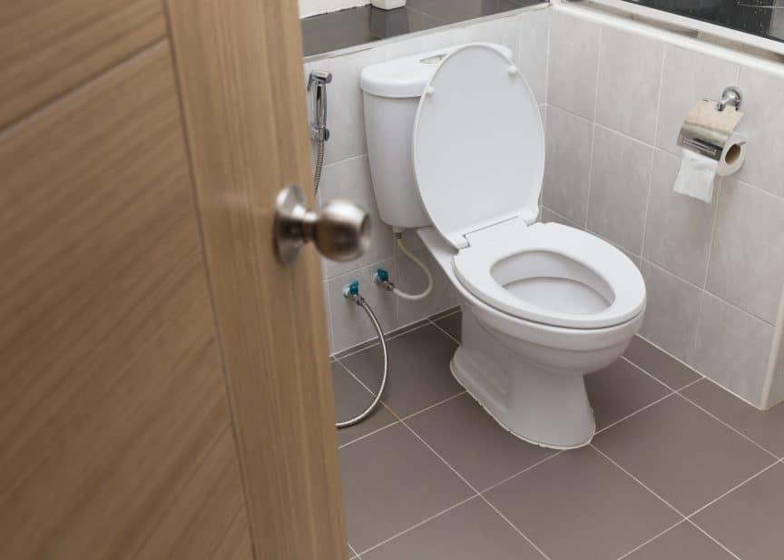 Toilet on Internal Wall