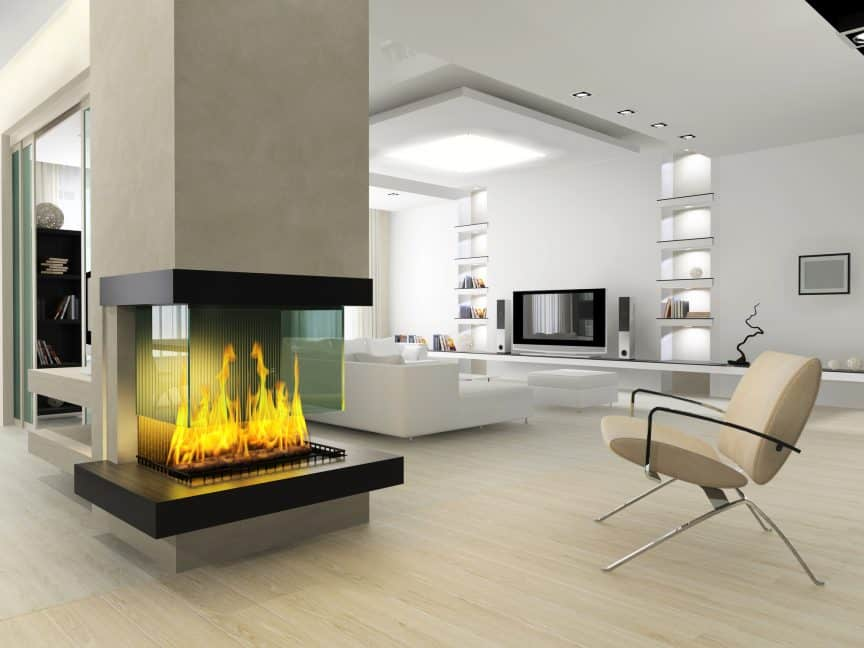 Fireplace without Chimney