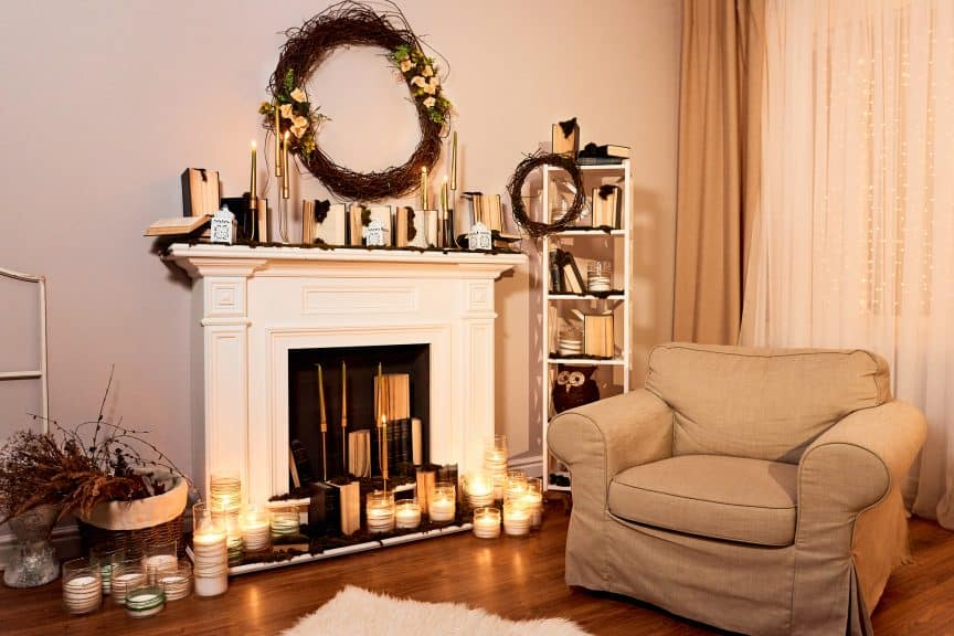 Fireplace with Candles