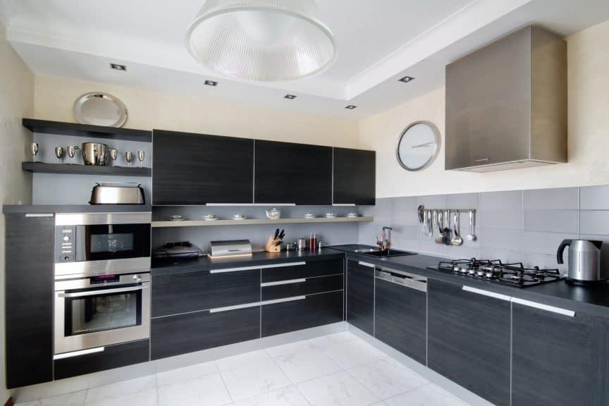 Modern Kitchen with Soffit