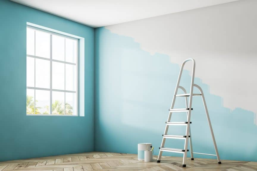 Painting a Wall Corner