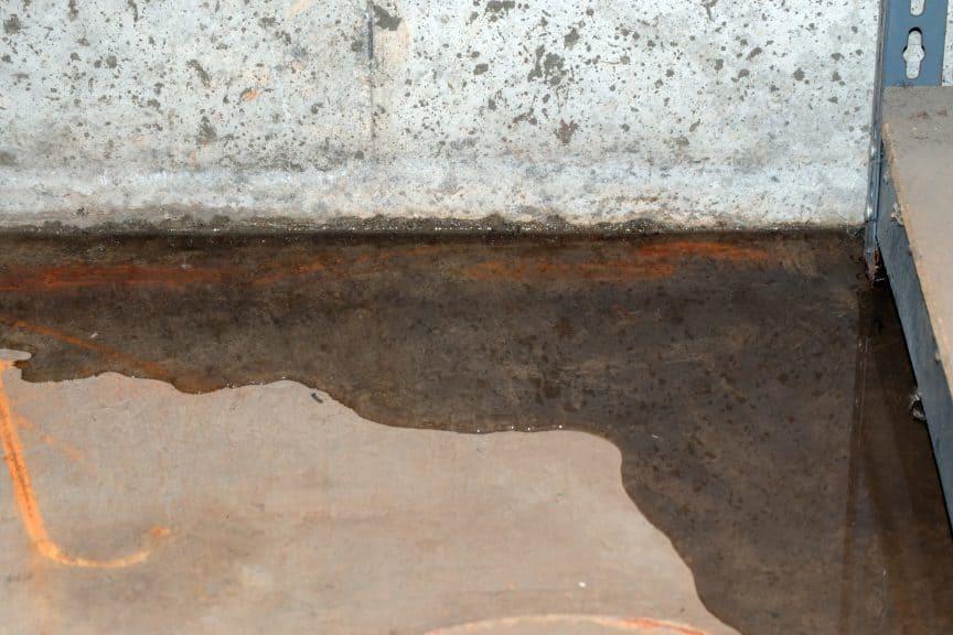 Water Seeping Through Concrete Floor