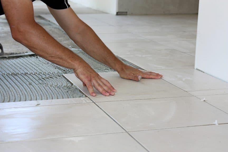 Setting Tile Floor