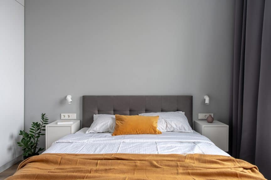 Bed with Two Nightstands